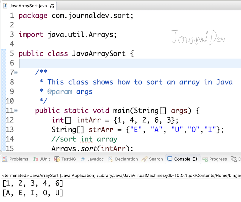 how to print a 2d array in java