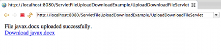 Servlet-File-Upload-Success