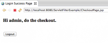 Servlet-Filter-Checkout