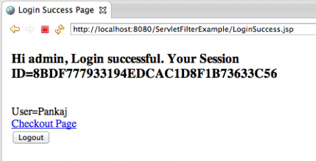 Servlet-Filter-Login-Success