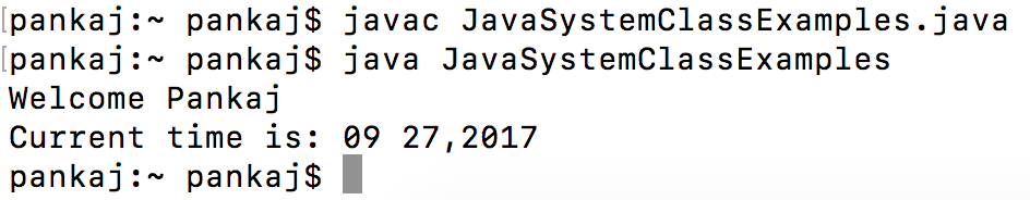 java system console
