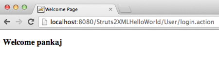 Struts-Hello-World-XML-Home