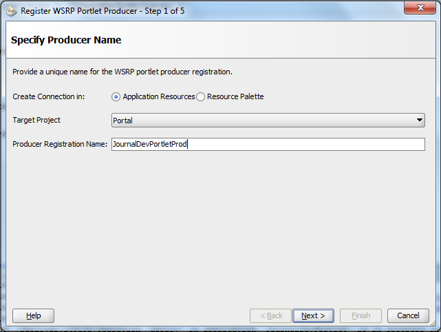 WSRP Producer Registration - Fill in required information