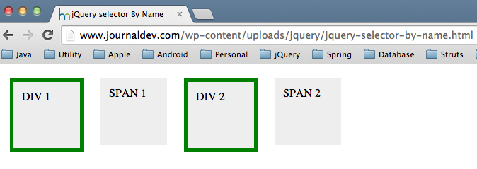 jquery select by name
