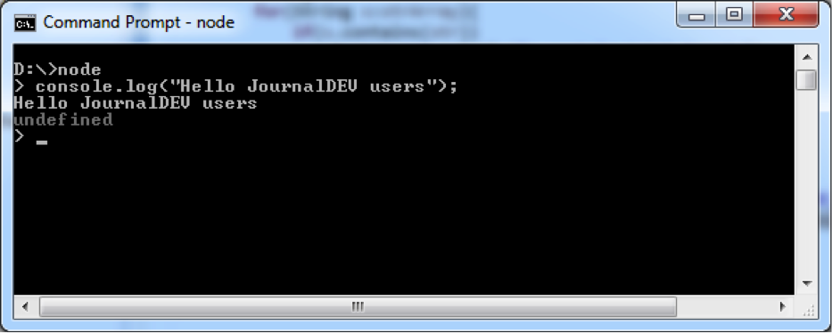 how to run a node js file in command prompt