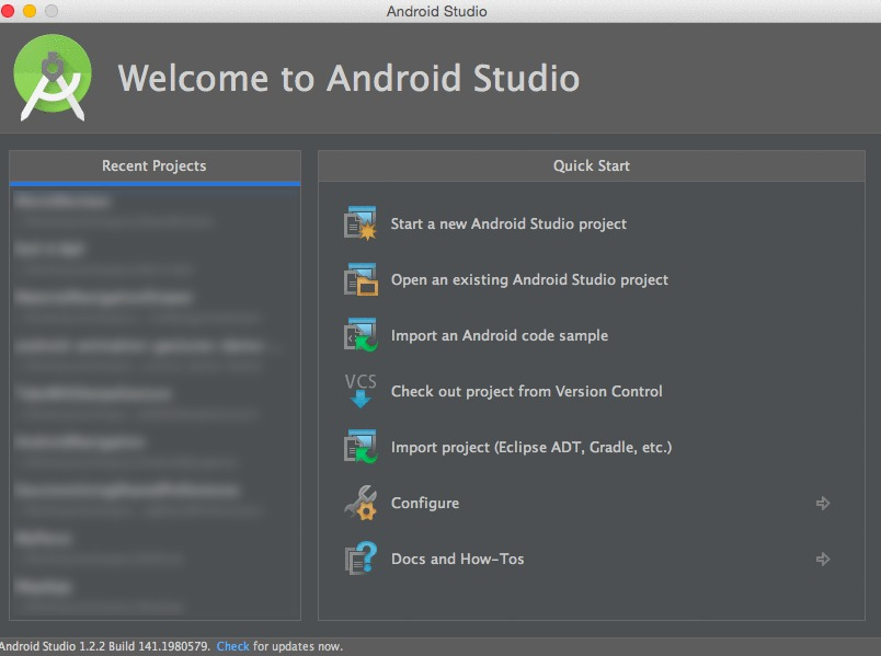 Android Studio Tutorial New Project