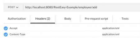 HTTP Request Headers for RESTEasy Example