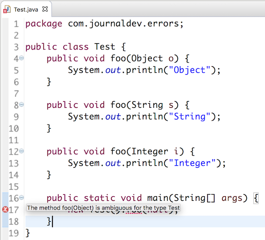 """""""The Method X Is Ambiguous For The Type Y"""" Java Ambiguous"""