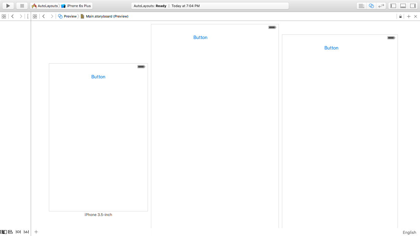 ios autolayout preview xcode