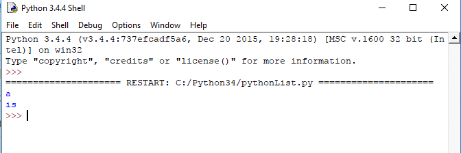 accessing a list with negative index