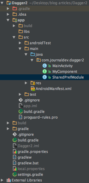 android dependency injection example, android dagger 2