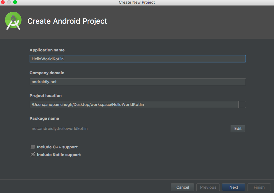 android-hello-world-create-project