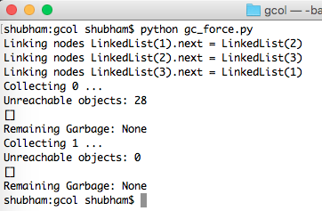 python gc collect, python force garbage collection