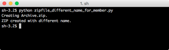 python zipfile write with different file name