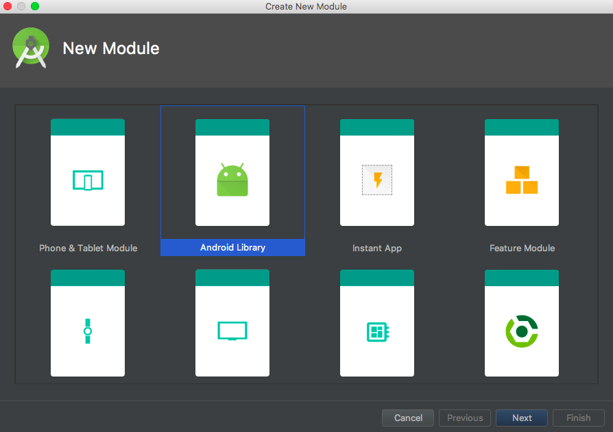 android create library jitpack new module
