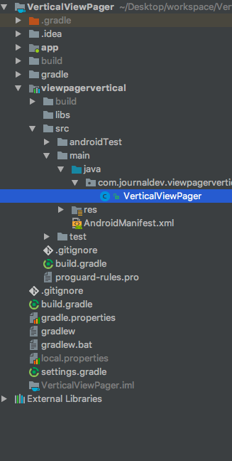 android create library jitpack project structure