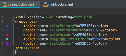 android daynight colors day mode
