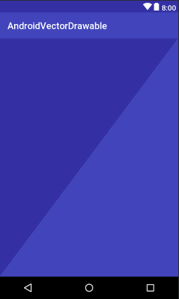 android vector drawable two triangles