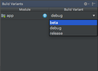 android build type variants