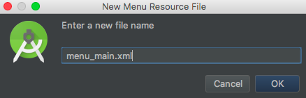 android-menu-resource-file