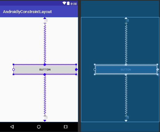 android constraint layout percentage width