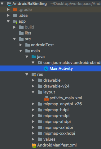 android rxbinding project