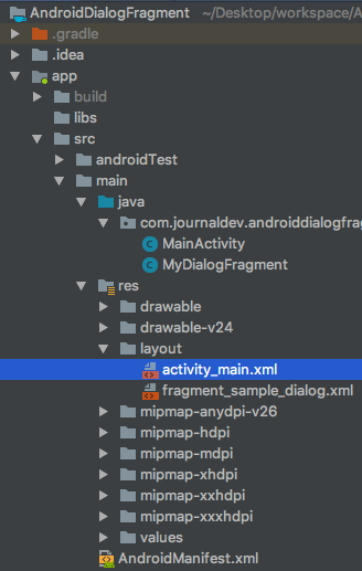 android dialogfragment project