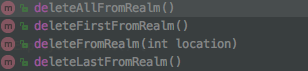 android realm delete functions