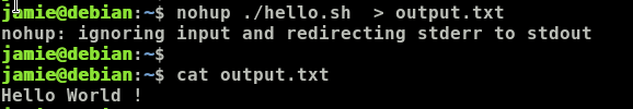 Redirect Nohup Output To A text File