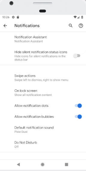 Android Q Notification Bubble Permissions