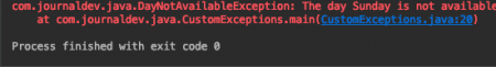 Java Custom Checked Exceptions