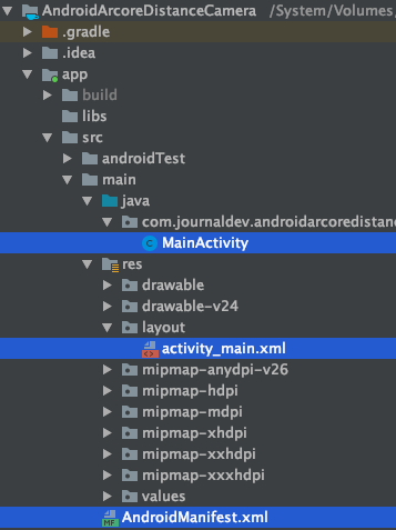 Android Arcore Project Structure