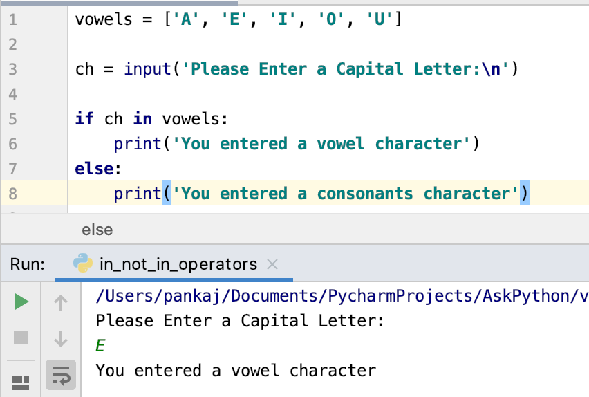 Python In Operator Example 1
