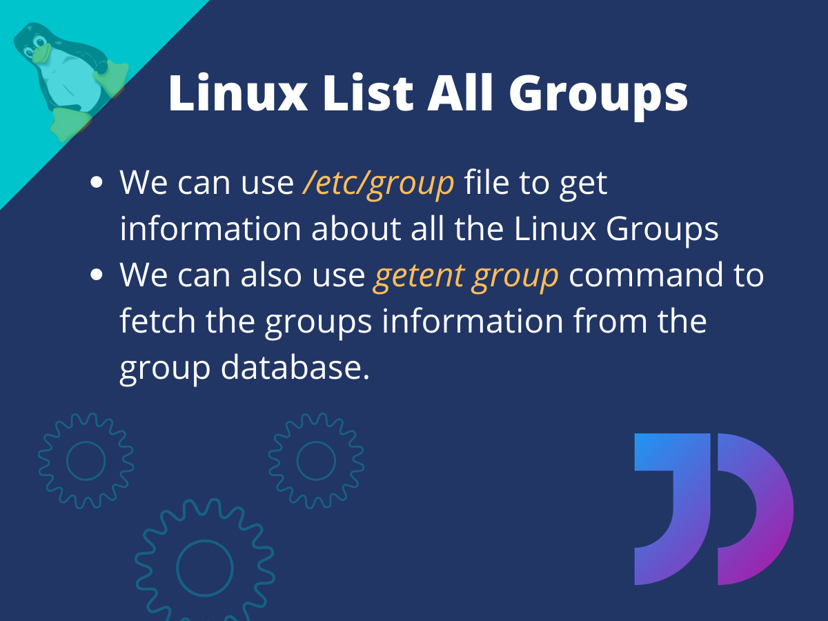 Linux List All Groups