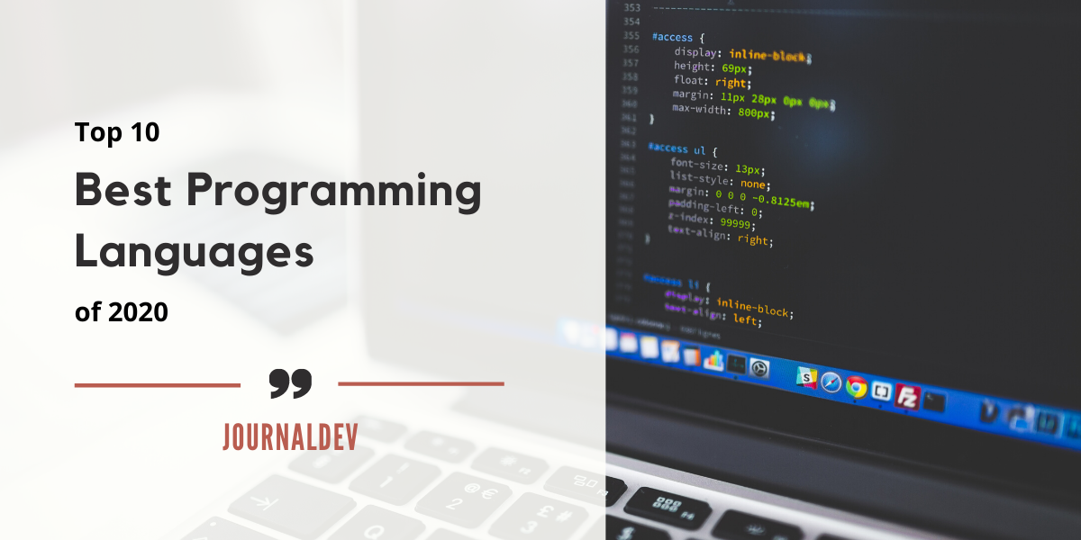Best Programming Languages Of 2020