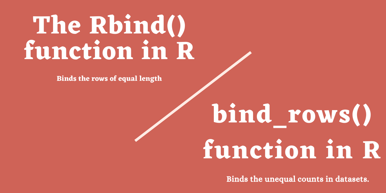 Rbind() Function In R