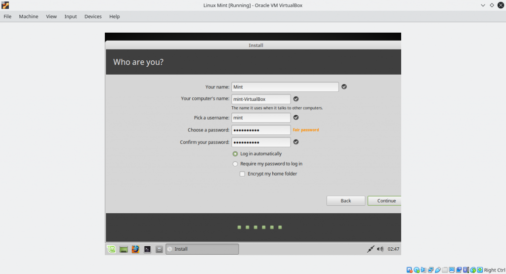 Creating New User For Our Linux Mint