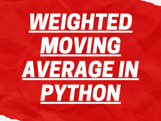 Weighted Moving Average In PYTHON