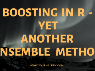 Boosting In R Yet Another Ensamble Method